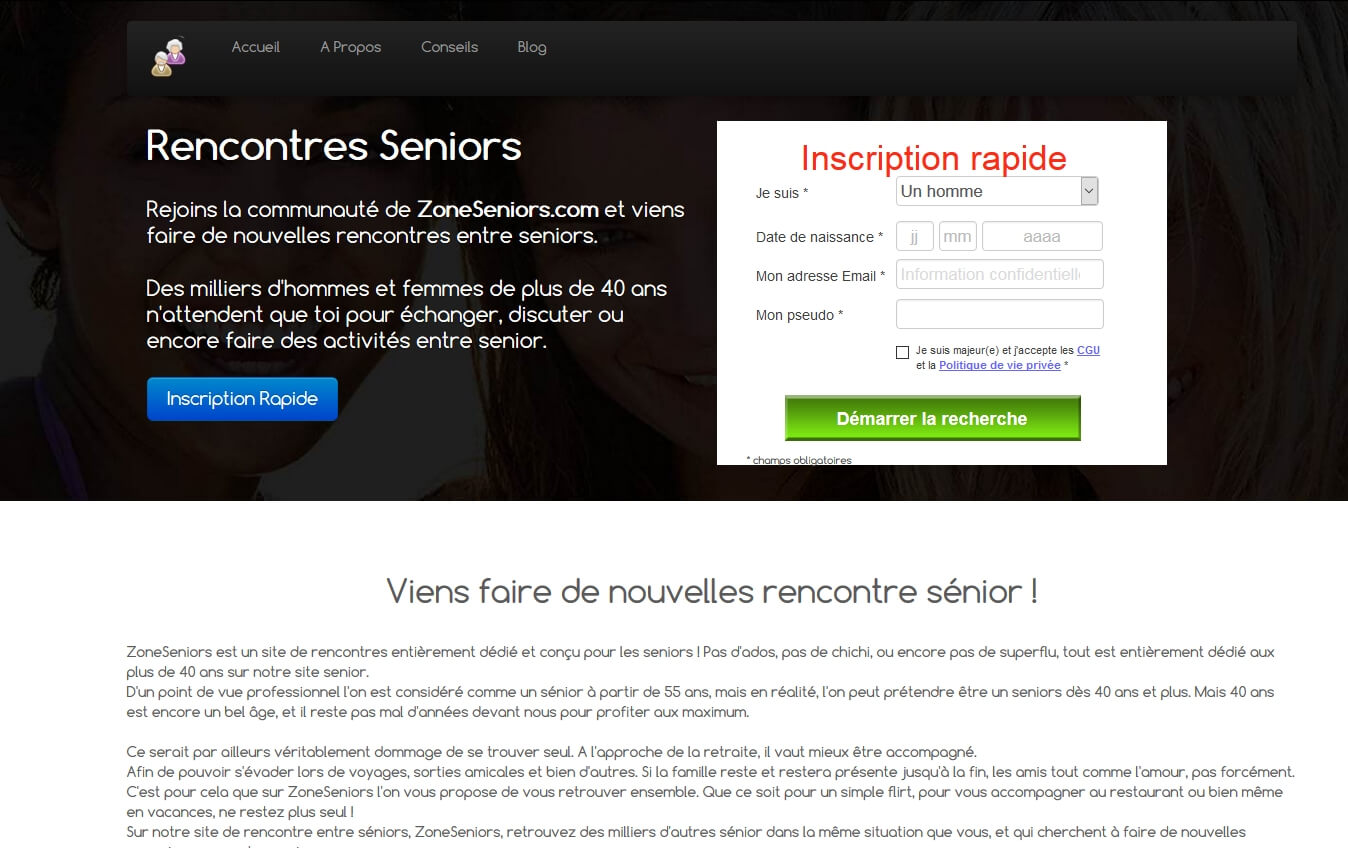 Site de rencontre seniors